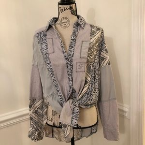 Free people button up shirt. Sz small